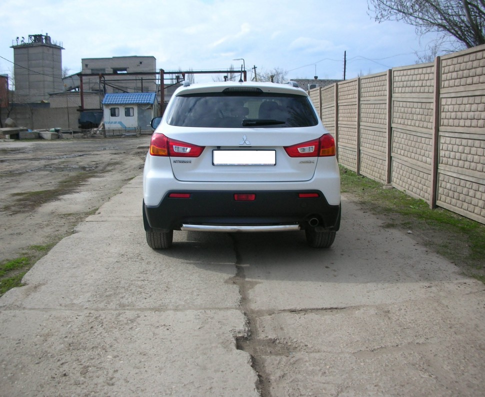 Protection of rear bumper pipe Mitsubishi ASX (2010-2012)