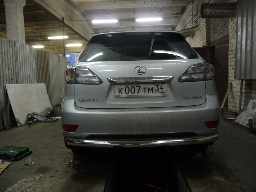 Protection of rear bumper pipe Lexus RX 350 (2009)