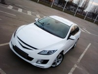 Front lamp trims (eyelashes) Mazda 6 (2008-2012 V.)