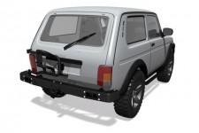 Power rear bumper with bracket for spare wheel for the Lada 4x4