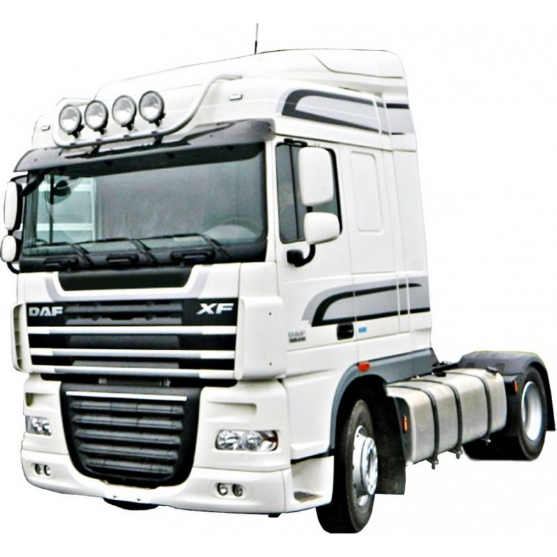 The arc on top for additional headlight DAF FT XF105.410-460, painted / stainless steel