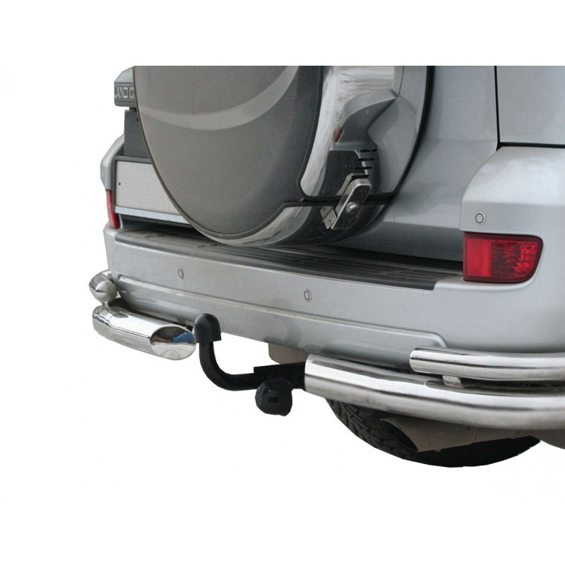 "Protection corner ""Corner double"" d76 Toyota Land Cruiser Prado 120, painted / stainless steel"
