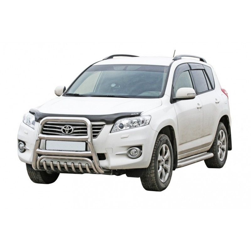 Protection front with additional protection of the engine, d63,5 Toyota Rav IV, painted / stainless steel