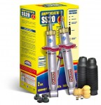 Rear suspension shock absorbers