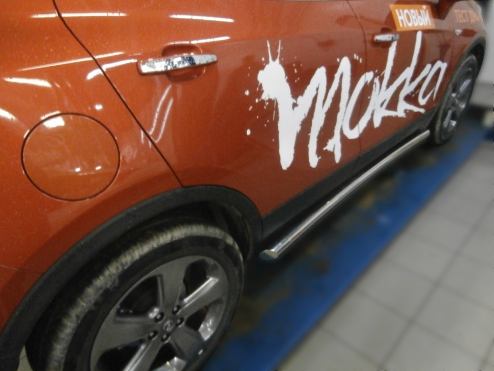 Protection thresholds d60 (pipe with bevels) Opel Mokka (2014-present)