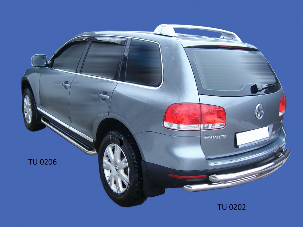Protection rear bumper twin pipe Volkswagen Touareg (2007 - 2009) (60, 60mm)