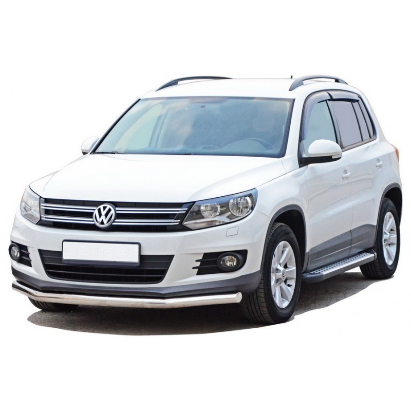 Protection of the front Pipe d63,5 Volkswagen Tiguan, painted / stainless steel
