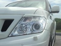 Front lamp trims (eyelashes) Nissan Patrol Y62 in the back