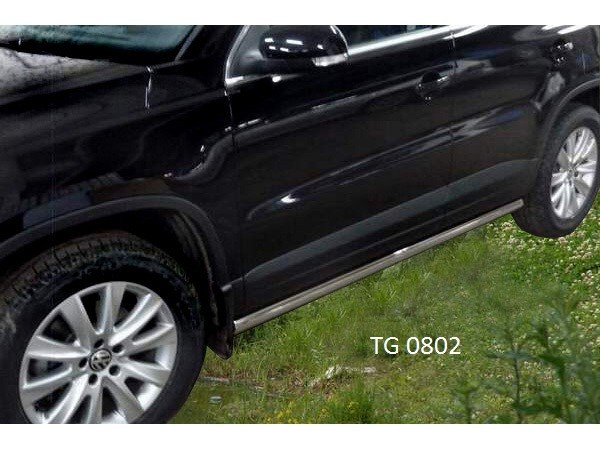 Protection of thresholds a pipe Volkswagen Tiguan Sport & Style (2008)
