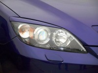 Front lamp trims (eyelashes) short Mazda 3 Hatchback var No. 1