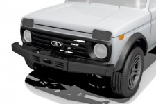 Power front bumper with the platform under the winch for Lada 4x4