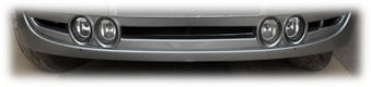Insert bumper VAZ 2170 ribbed with 4 PTF