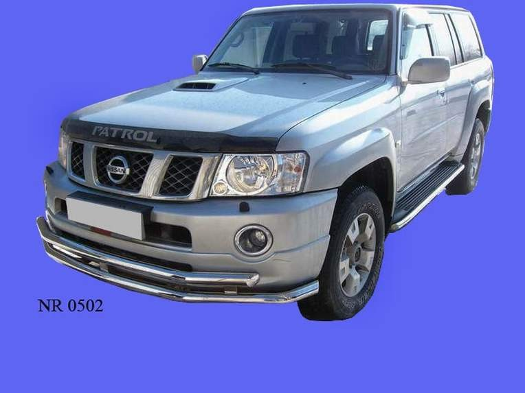 Front bumper protection tube double Nissan Patrol (2005-2009) (60, 60mm)