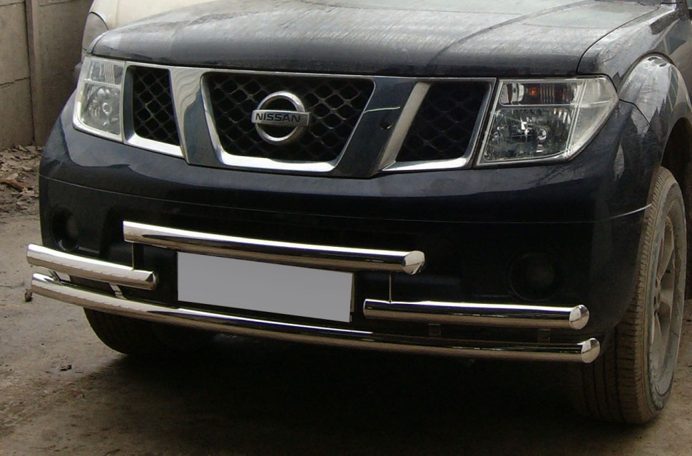 Protection front bumper triple Nissan Pathfinder (2005 - 2009) (60, 60, 60 mm)